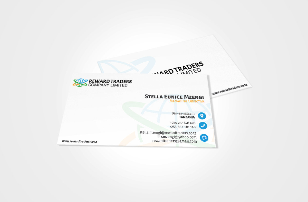 REWARD TRADERS BUSINESS CARD